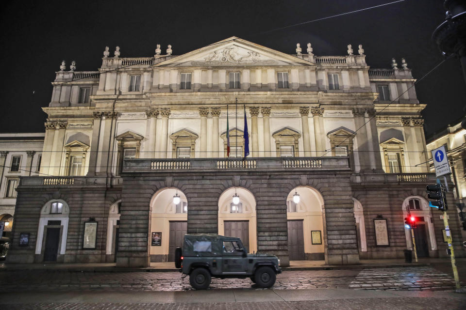 Il teatro La Scala di Milano (AP Photo/Luca Bruno, File)