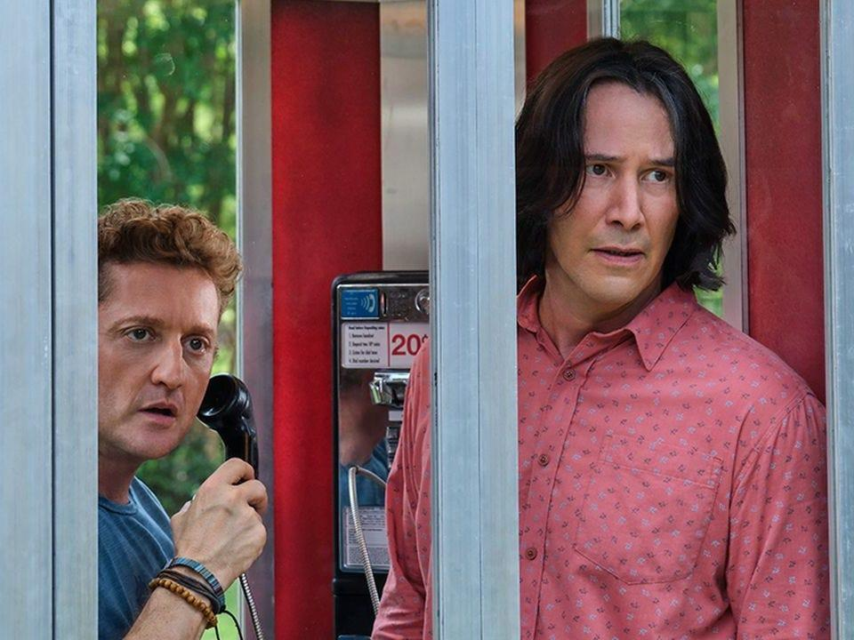 """(L-R) Alex Winter and Keanu Reeves in """"Bill & Ted Face the Music."""" <p class=""""copyright"""">Orion</p>"""