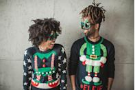 <p>Once the purview of grandma's closet and thrift stores, you can now buy so-ugly-they're-cute Christmas sweaters at just about every big-box store. Ask your guests to wear their best festive attire to your holiday celebration. Whoever wears the zaniest get-up eats dessert first!</p>