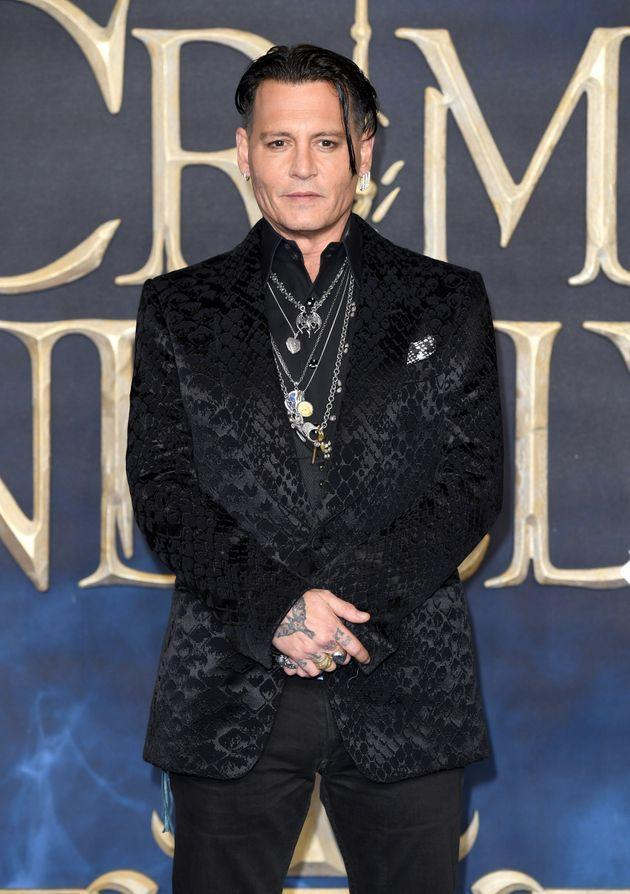 Johnny Depp attends the UK Premiere of