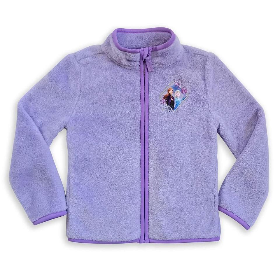 """<p>shopdisney.com</p><p><strong>$24.99</strong></p><p><a href=""""https://go.redirectingat.com?id=74968X1596630&url=https%3A%2F%2Fwww.shopdisney.com%2Felsa-and-anna-zip-fleece-jacket-for-kids-frozen-2-5626057397326M.html&sref=https%3A%2F%2Fwww.countryliving.com%2Fshopping%2Fgifts%2Fg34122456%2Fgifts-for-disney-lovers%2F"""" rel=""""nofollow noopener"""" target=""""_blank"""" data-ylk=""""slk:Shop Now"""" class=""""link rapid-noclick-resp"""">Shop Now</a></p><p>No matter if the weather is as chilly as Arendelle in winter, this soft and snuggly fleece will keep the kiddo plenty warm. It comes with an appliqué of Elsa and Anna adorning the front, so little girls can represent their favorite frosty Disney princesses.</p>"""