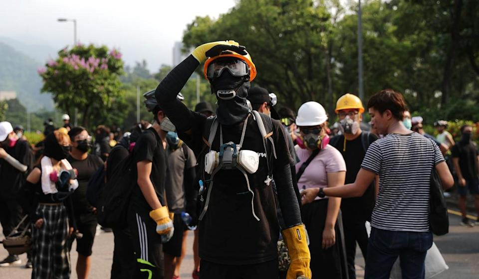 Protestors in Tai Po on August 10. More than 16 per cent said the anti-extradition movement was their first time protesting. Photo: Sam Tsang