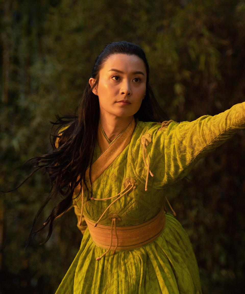 Ying Li (Fala Chen) in Marvel Studios' SHANG-CHI AND THE LEGEND OF THE TEN RINGS. Photo by Jasin Boland. ©Marvel Studios 2021. All Rights Reserved.