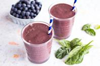 <p>Blueberry pancakes, anyone? This smoothie will make breakfast fans very happy, with the addition of oats for creaminess and body, plus oat milk and a touch of maple syrup.</p>