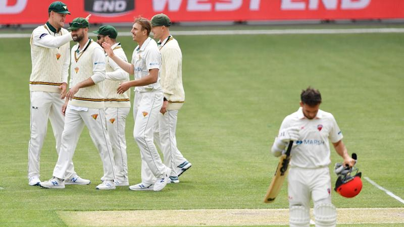 South Australia's Jake Weatherald fell two runs shy of his first Sheffield Shield double century