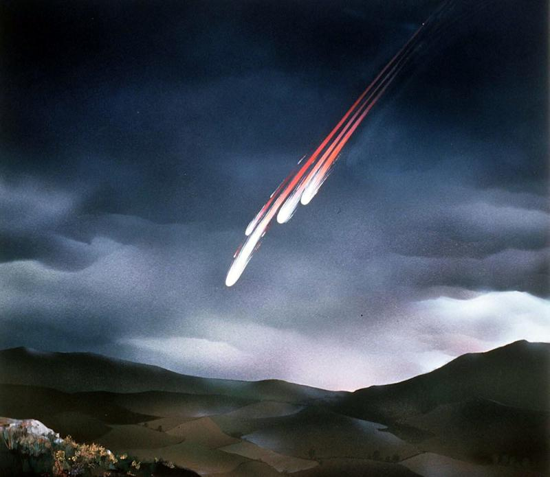 The meteorite hit the Earth at 40,000mph