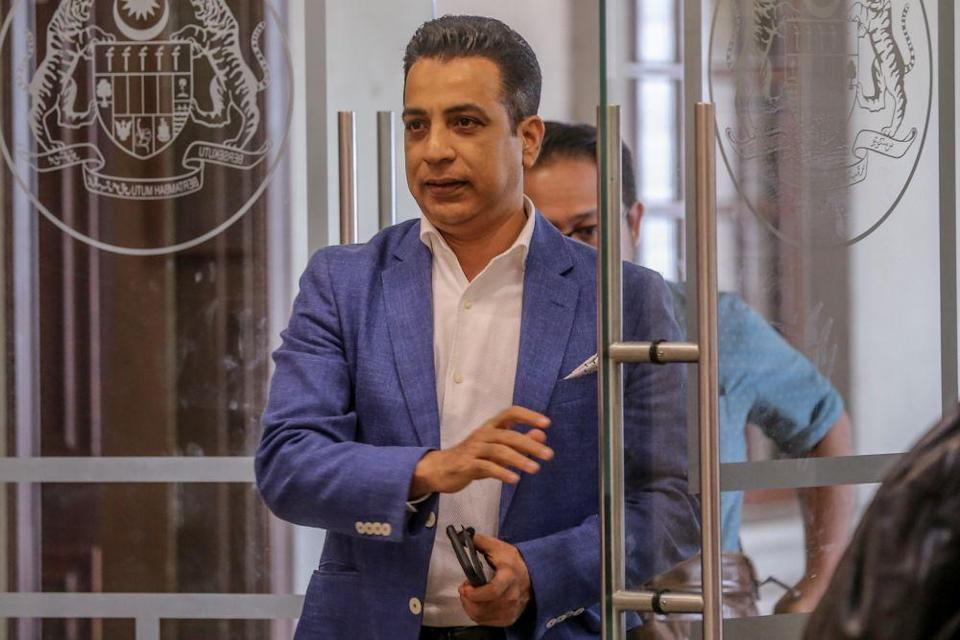 Armada Holdings Sdn Bhd CEO Datuk Wasi Khan is pictured at the Kuala Lumpur High Court December 11, 2019. — Picture by Firdaus Latif