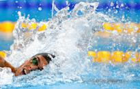 <p>Gregorio Paltrinieri of Italy competes in the Men's 1500m Freestyle Final on Day 8 of the Rio 2016 Olympic Games at the Olympic Aquatics Stadium on August 13, 2016 in Rio de Janeiro, Brazil. (Photo by Clive Rose/Getty Images) </p>
