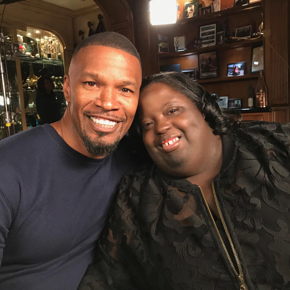 Jamie Foxx and his sister (Courtesy of Kate Snow)