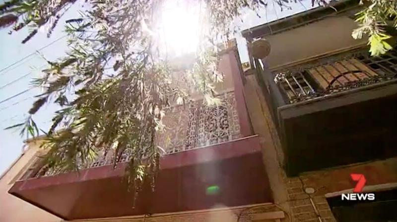 The neighbours found out when a friend came across the video online. Source: 7 News