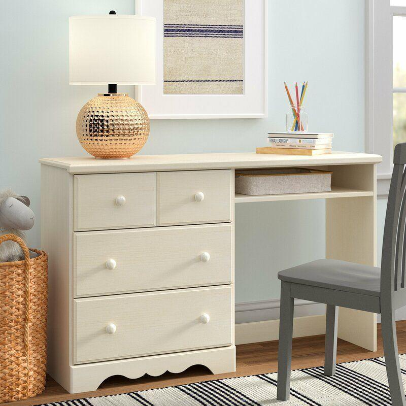 """<p><strong>Andover Mills</strong></p><p>wayfair.com</p><p><strong>$219.90</strong></p><p><a href=""""https://go.redirectingat.com?id=74968X1596630&url=https%3A%2F%2Fwww.wayfair.com%2Fbaby-kids%2Fpdp%2Fandover-mills-lassen-52-w-kids-study-computer-desk-w000684489.html&sref=https%3A%2F%2Fwww.housebeautiful.com%2Fshopping%2Ffurniture%2Fg35205213%2Fbest-kids-desks%2F"""" rel=""""nofollow noopener"""" target=""""_blank"""" data-ylk=""""slk:BUY NOW"""" class=""""link rapid-noclick-resp"""">BUY NOW</a></p><p>Ensure your kid has a clear workspace with this desk that features three deep drawers. (FYI, the top one gives the illusion of a double drawer.) It's perfect for stashing office necessities and can even double as extra dresser space or a home for toys.</p>"""