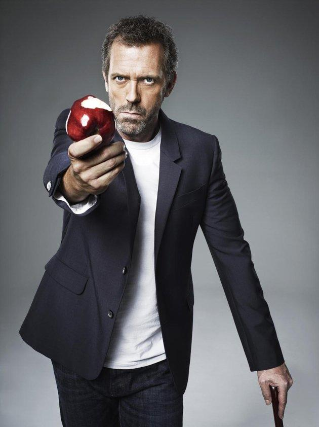 """<b>Hugh Laurie </b>as Dr. Gregory House, """"House"""" (2004-2012)<br><br>Outstanding Lead Actor in a Drama Series<br><br>0 wins, 6 nonconsecutive nominations (2004-2011)"""