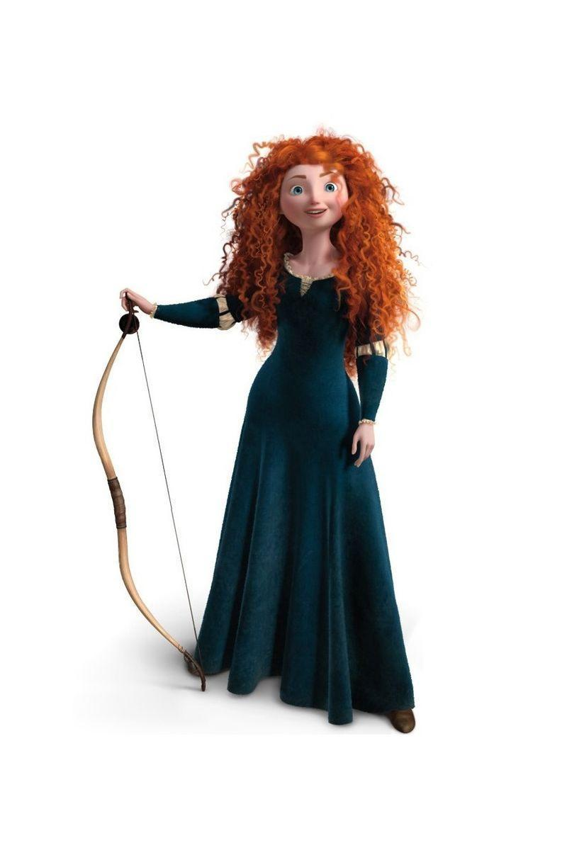 <p>Disney showcased Merida, a Princess from Scotland who chose her own path, in the 2012 Disney Pixar film <em>Brave</em>. During her journey, the Princess dons a medieval-inspired gown made in dark green velvet with gold details. </p>