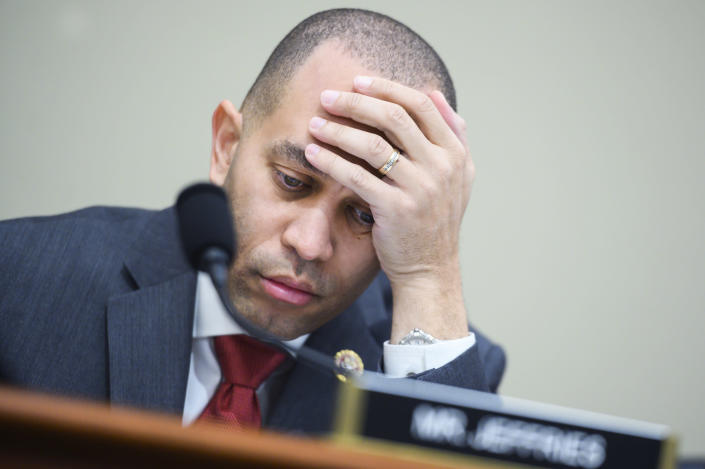 Rep. Hakeem Jeffries at a House Budget Committee hearing on Wednesday. (Tom Williams/CQ-Roll Call via Getty Images)