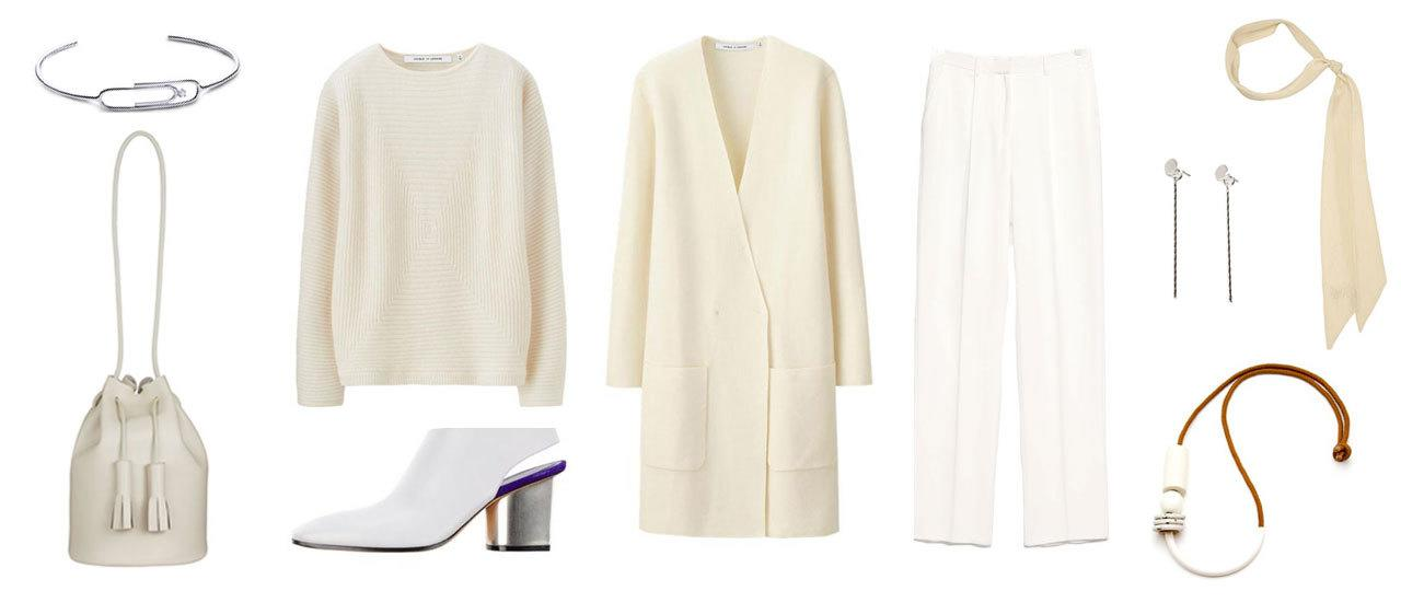 <p>A monochromatic color scheme is the way to go. Dressing head to toe in one color is daunting, but it is one of the best ways to refine your wardrobe. Take a gander at Céline's latest Spring 2016 collection for inspiration. </p>