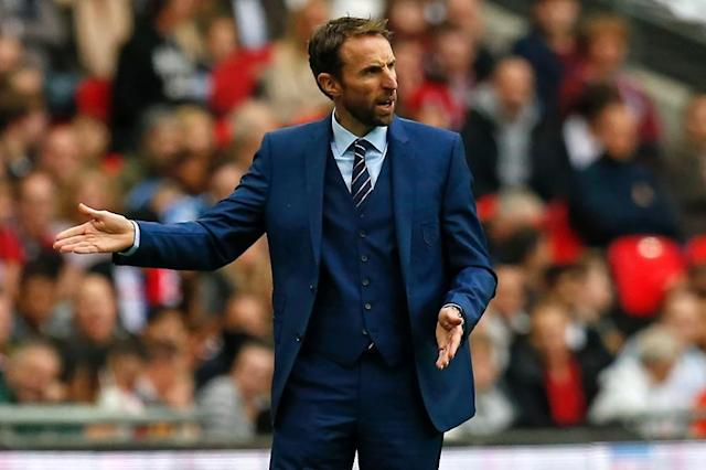 Gareth Southgate won his first match in charge as England interim manager (AFP Photo/Ian Kington)