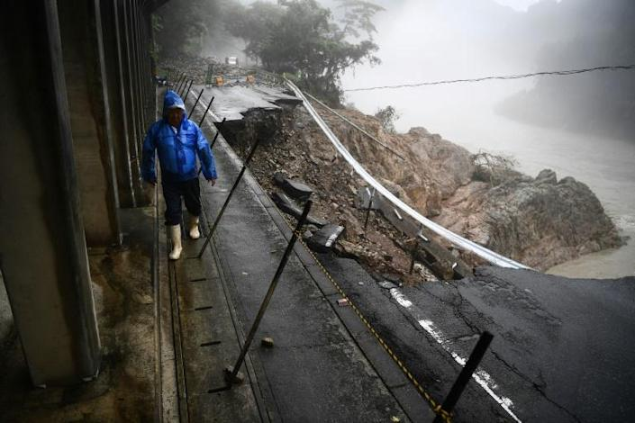 The rains have left conditions treacherous (AFP Photo/CHARLY TRIBALLEAU)
