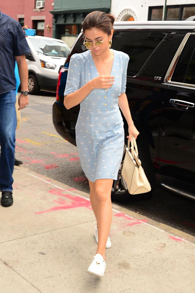 Selena Gomez in SoHo in New York on Sept. 15. (Photo by Raymond Hall/GC Images)
