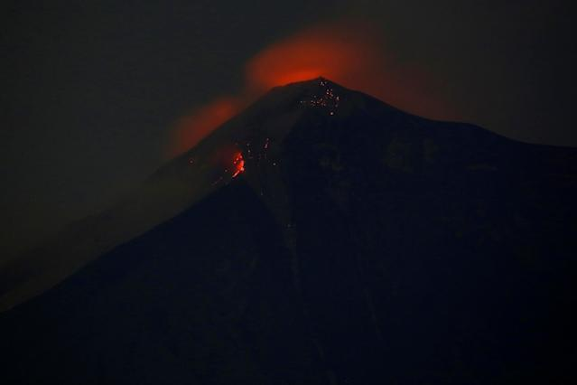 <p>Fuego volcano is pictured after it erupted violently, in San Juan Alotenango, Guatemala June 3, 2018. (Photo: Luis Echeverria/Reuters) </p>