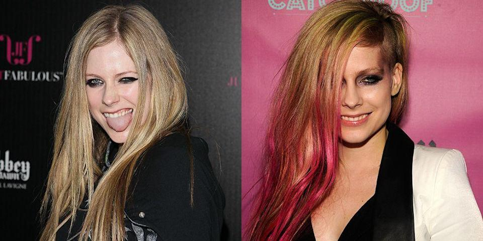 <p>Avril kept her look relatively tame during her two-year relationship with Brody Jenner (yeah, totally forgot they dated), but following the couple's split, the singer went straight back to her punk roots with hot pink highlights. </p>