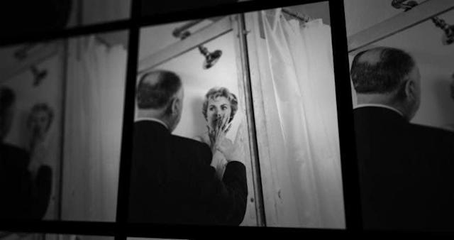 """Alfred Hitchcock directs Janet Leigh in """"Psycho."""""""