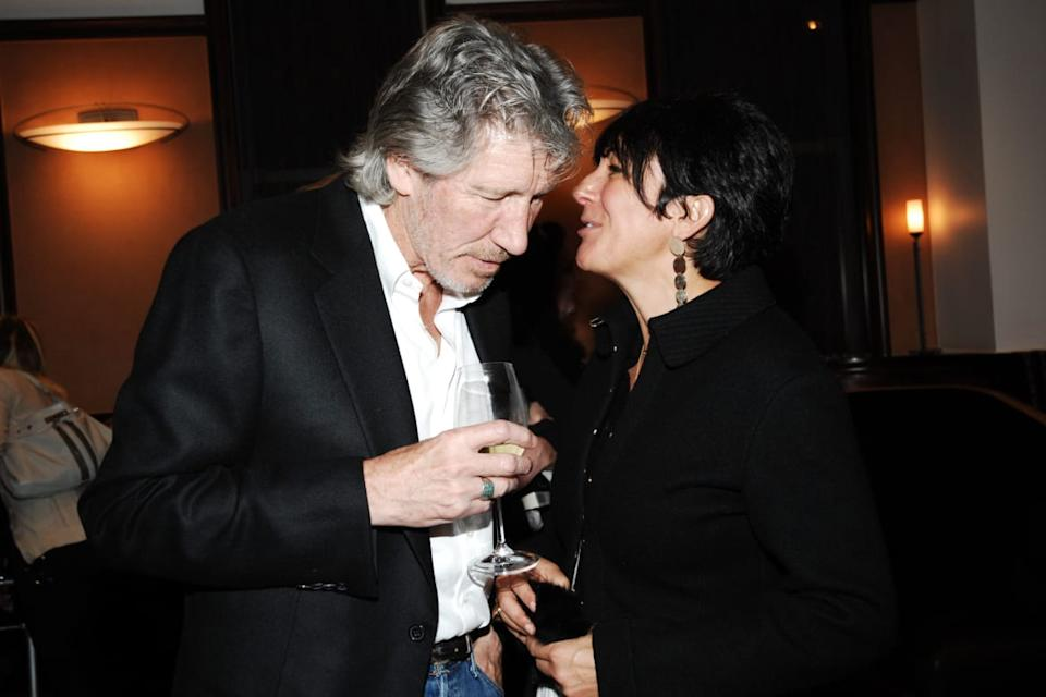 "<div class=""inline-image__caption""><p>Roger Waters and Ghislaine Maxwell attend Book Party hosted by Anne Hearst McInerney, Candace Bushnell & Nicole Miller Celebrating ""How it Ended"" by Jay McInerney at CRU Restaurant on April 6, 2009 in New York City. </p></div> <div class=""inline-image__credit"">Joe Schildhorn/Patrick McMullan via Getty</div>"