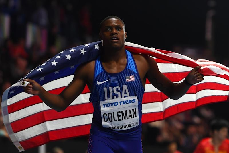 World beater: Coleman set the global record across 60m in February: Getty Images