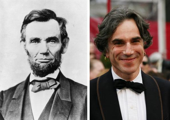 (FILE PHOTO) In this composite image a comparison has been made between Abraham Lincoln (L) and Actor Daniel Day-Lewis. Oscar hype begins this week with the announcement of the nominations for the 69th annual Golden Globes and the 18th Annual Screen Actors Guild Awards. Luise Rainer became the first actress to receive an Academy Award for her role in the 1936 biopic 'The Great Ziegfeld,' playing stage performer Anna Held. Over half of the last ten Oscars for best actor or actress have been for performances in a biopic. The trend continues this year with the nominations for actors Michelle Williams, Meryl Streep, Viggo Mortensen, Brad Pitt and Leonardo DiCaprio for their roles in 'My Week With Marilyn.' 'The Iron Lady,' 'A Dangerous Method,' 'Moneyball' and 'J Edgar.'  ***LEFT IMAGE***1863:  Abraham Lincoln, (1809 - 1865), the 16th President of the United States of America poses in circa1863.   (Photo by Alexander Gardner/Getty Images)***RIGHT IMAGE***HOLLYWOOD - FEBRUARY 24:  Actor Daniel Day-Lewis arrives at the 80th Annual Academy Awards held at the Kodak Theatre on February 24, 2008 in Hollywood, California.  (Photo by Frazer Harrison/Getty Images)