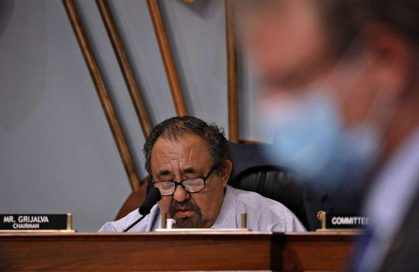 PHOTO: Chairman Rep. Raul Grijalva at a committee hearing, July 28, 2020, on Capitol Hill in Washington. (Pool/Getty Images)