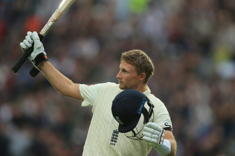 Sixth century of 2021 - England captain Joe Root acknowledges his Headingley home crowd after being dismissed for 121 on the second day of the third Test against India on Thursday England's captain Joe Root gestures as he leaves the crease after losing his wicket for 121 on the second day of the third cricket Test match between England and India at Headingley cricket ground in Leeds, northern England, on August 26, 2021. (AFP/Lindsey Parnaby)