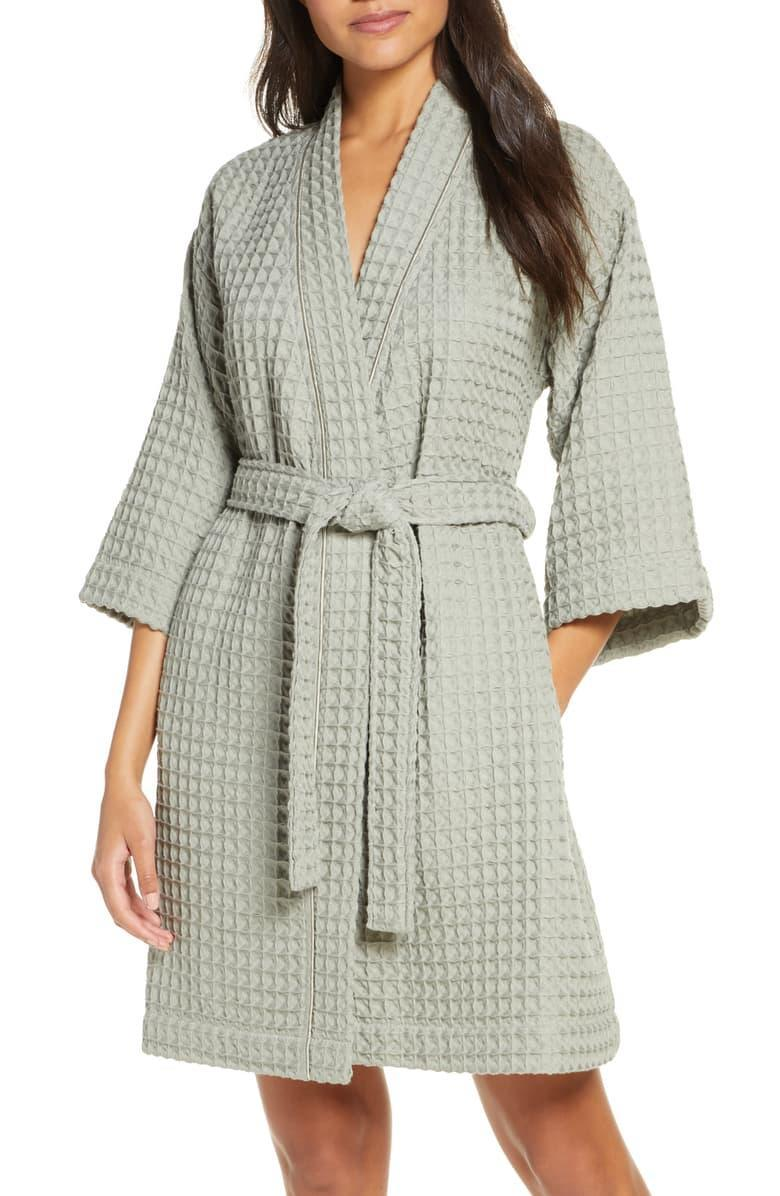 "<h3><a href=""https://shop.nordstrom.com/s/nordstrom-modern-waffle-robe/5627929/full"" rel=""nofollow noopener"" target=""_blank"" data-ylk=""slk:Nordstrom Modern Waffle Robe"" class=""link rapid-noclick-resp"">Nordstrom Modern Waffle Robe</a></h3> <br>This simple waffle-style robe gets a sexier modern twist with its short length and faded pastel hues — and, as one pleased lounger not so lightly put it, ""This robe is beautiful! The material is soft & the soft pink color is so pretty! I would definitely recommend it for yourself or a gift!!!""<br><br><strong>Nordstrom</strong> Modern Waffle Robe, $, available at <a href=""https://go.skimresources.com/?id=30283X879131&url=https%3A%2F%2Fshop.nordstrom.com%2Fs%2Fnordstrom-modern-waffle-robe%2F5627929%2Ffull"" rel=""nofollow noopener"" target=""_blank"" data-ylk=""slk:Nordstrom"" class=""link rapid-noclick-resp"">Nordstrom</a><br>"