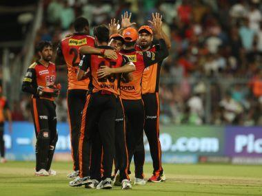 An all-round show from Rashid Khan helped Sunrisers Hyderabad end their four-match slump and beat Kolkata Knight Riders in their backyard at Eden to take them to the finals of Indian Premier League (IPL) 2018. Stuck in a rut against Kuldeep Yadav, Sunrisers appeared to be doomed until Rashid lifted them with a late cameo. The Afghanistan leggie returned to pick up three wickets in a deadly four-over spell, effected a brilliant run-out and took two catches to complete an all-round performance and derail Kolkata's surge to the finals. Here are the best moments from the second qualifier at Kolkata. Sunrisers Hyderabad celebrate their win over Kolkata Knight Riders. Sportzpics The Rashid-Uthappa face-off If Kolkata Knight Riders had to stop a pumped-up Rashid, they needed Robin Uthappa to fire. The stylish Kolkata batsman had been in woeful form in the past few matches, but his exemplary record against Rashid Khan, which few can boast of, gave Kolkata hope. Before Friday, Uthappa had faced 31 balls from Rashid, scoring 58 off them at a strike rate of 187.09. The fact that he had never been dismissed by the leggie further bolstered his credentials. Perhaps, the confidence stemming from this result forced Uthappa to play an ugly reverse sweep to Rashid off the first ball he face from him on Friday. Being a pre-meditated shot, Uthappa couldn't read the length and the full ball from Rashid went under his bat and rocked the stumps. What goes around comes around Sunrisers Hyderabad were looking to up the ante through Carlos Brathwaite, but Nitish Rana squashed all such thoughts with a brilliant bit of fielding on the boundary ropes. He dived full length to prevent a boundary and then produced an accurate throw to the 'keeper to catch Brathwaite short of the crease. In Kolkata's innings, Rana walked in at No 3 and appeared in ominous touch much like Brathwaite but suffered a fate similar to what he inflicted in the first innings. Rana nudged Shakib to deep mid-wicket, slipped at the non-striker's end and attempted a risky second run. With Rashid's bullet throw coming in accurately, Rana was caught marginally short of the crease. Four sixes that turned the game Sunrisers Hyderabad seemed to be ambling to a below-par total with the cream of their batting line-up back in the hutch. They needed a final boost from one of Brathwaite or Yusuf Pathan but neither obliged. With his ugly hoicks, Rashid compensated for the two with a brilliant knock studded with four maximums. Piyush Chawla missed a catch at the boundary ropes and parried it over the fence to give the Afghan player a lucky six. He followed it up with a maximum over cover, a shot that put some of their famed batsmen to shame. In the final over from Prasidh Krishna, he whipped one over square leg for yet another six and completed the onslaught with one more in the final ball, smashing a slower ball over long-on. The innings turned on its head in these two overs as Sunrisers raced from 138/6 in 18 overs to 174/7 in 20. Karthik drops a skier, compensates with insane stumping With Wriddhiman Saha in the mood to blindly go at balls after a horrendous start, Shivam Mavi forced a top edge from the batsman that soared into the night sky. Calling for the catch, Dinesh Karthik, with his gloves on, rushed to square leg and dived full length but the ball had swirled away from the Kolkata skipper. The dropped attempt cost Kolkata 30 extra runs as Saha finally managed to break his shackles and resurrect Sunrisers Hyderabad's innings. With memories of a 2014 IPL final knock against Kolkata Knight Riders while he was playing for Kings XI Punjab hovering in the air, Karthik pulled off a brilliant stumping to catch his counterpart behind the stumps short. A googly had Saha fumbling at the crease and an inside edge onto his body landed just outside the leg-stump. Karthik swooped in from behind the stumps and rolled over while breaking the stumps to catch Saha, who had stepped out, short. Narine hammers Bhuvneshwar Kumar Bhuvneshwar Kumar's enticing battle with Sunil Narine turned out to be highlight of the second innings as the West Indian stood undaunted, smashing Bhuvneshwar, one of T20s better bowlers, all around the park. A full toss first up from the Indian seamer was smashed through covers for four by Narine. He followed it up with a clean strike over long-off for six to put the Sunrisers' new ball bowler under pressure. With Bhuvneshwar targetting his body next ball with a short of a length delivery, Narine slogged across the line, getting an inside edge that raced to square leg for another four. He completed the flurry of runs with a tennis smash over Bhuvneshwar's head for a fourth boundary in succession.