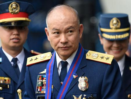Incoming Philippine National Police Chief Oscar Albayalde arrives for the National Police chief handover ceremony in Camp Crame, Quezon City, metro Manila, Philippines, April 19, 2018. REUTERS/Dondi Tawatao
