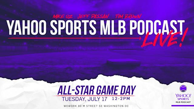 Yahoo Sports' Tim Brown, Jeff Passan and Mike Oz will record an All-Star edition of their MLB Podcast LIVE at the WeWork location in Washington D.C. on June 17th. For tickets, visit Eventbrite.com and search Yahoo Sports MLB Podcast.