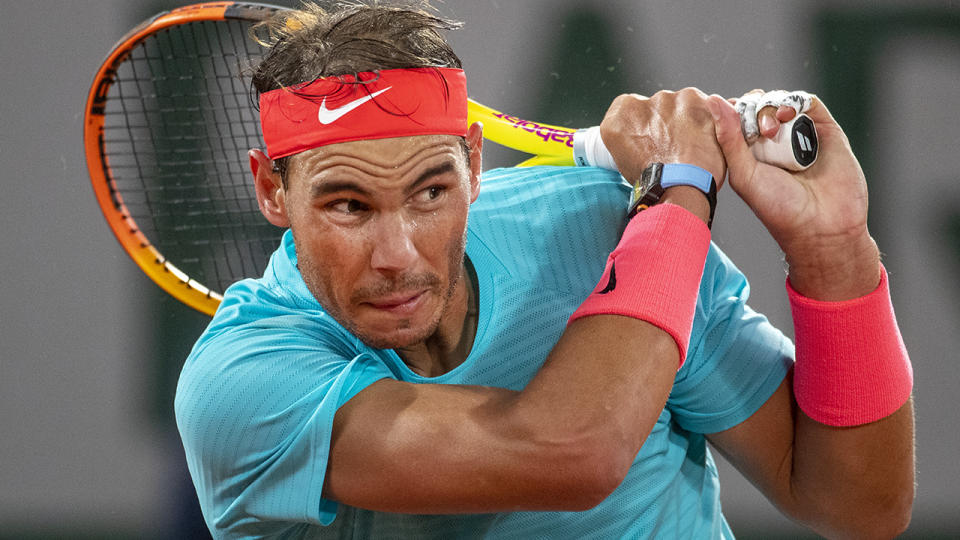Rafa Nadal is pictured during the French Open.