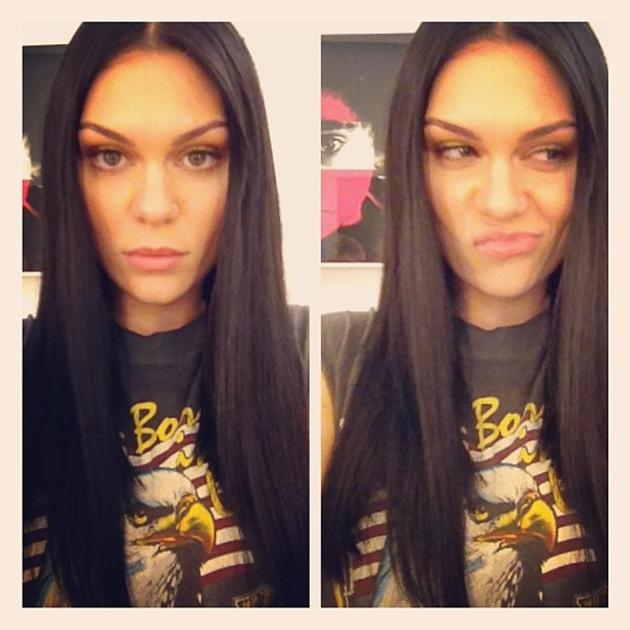 "Celebrity photos: Jessie J is soon to appear on the cover of ELLE magazine, and she treated her fans to a sneak peek of the shoot. She tweeted this photo of her poker straight hair and makeup along with the caption: ""Elle shoot coming soon 'hair it is' ;)"""