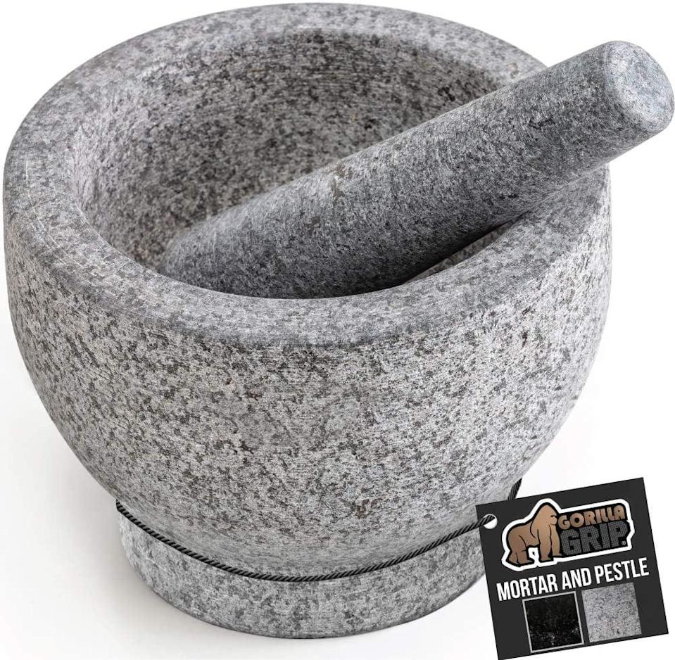 <p>Bring the spice with the <span>Gorilla Grip Original Mortar and Pestle Set</span> ($27).</p>