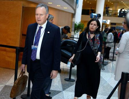 Canada's Poloz arrives for G-20 Plenary Meeting during IMF and World Bank Meetings in Washington