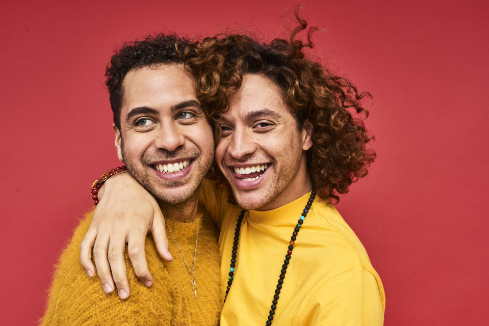 Portrait of gay men having fun together and celebrating their love