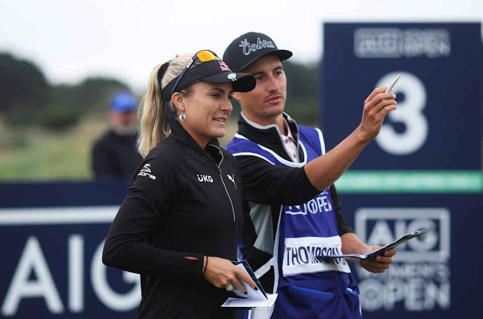 American Lexi Thompson has employed local caddie Paul Drummond for this week's AIG Women's Open