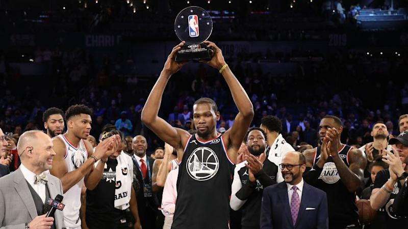 96406cfa873 Kevin Durant keeps building up superstar accolades with second All-Star MVP