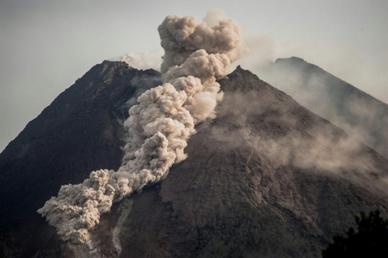 The volcano is on its second-highest alert level, after sightings of fiery lava down its sides in recent days