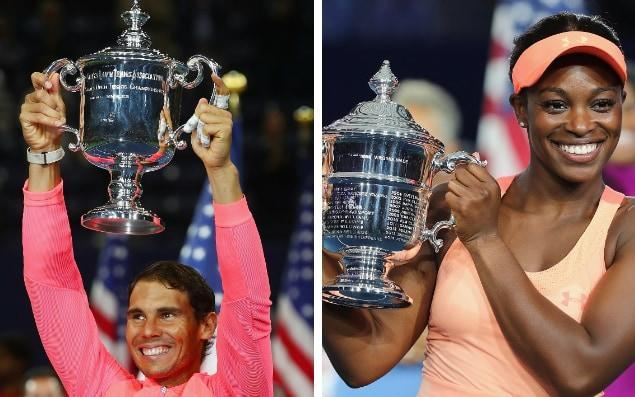 Rafael Nadal and Sloane Stephens won the 2017 championships - Getty Images