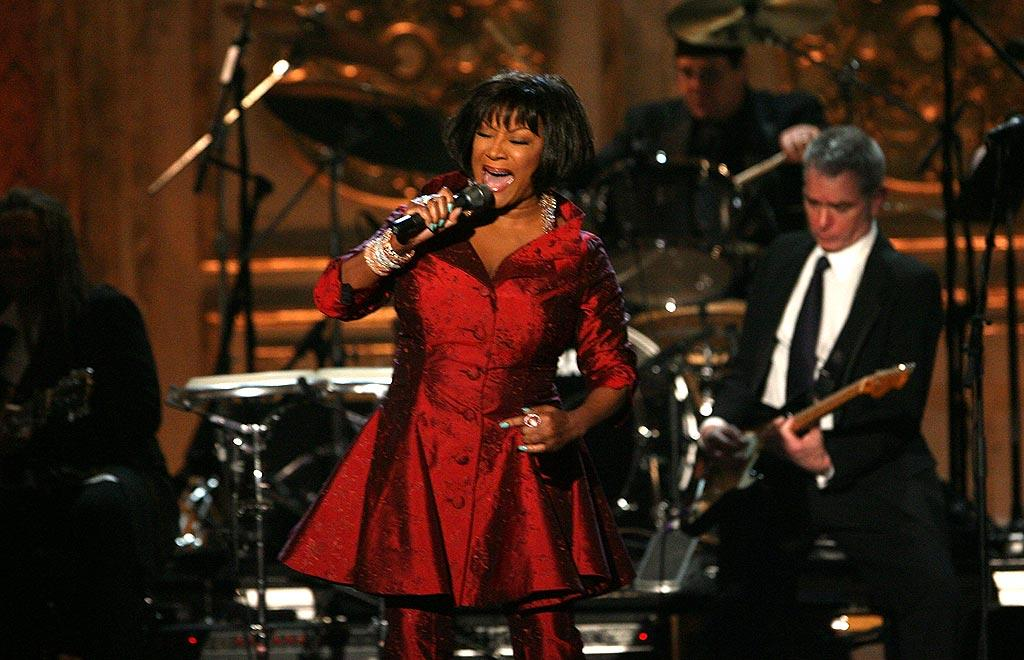 "Patti LaBelle belts out her version of Leon Gamble and Kenny Huff's ""If You Don't Know Me By Now."" Kevin Kane/<a href=""http://www.wireimage.com"" target=""new"">WireImage.com</a> - March 10, 2008"