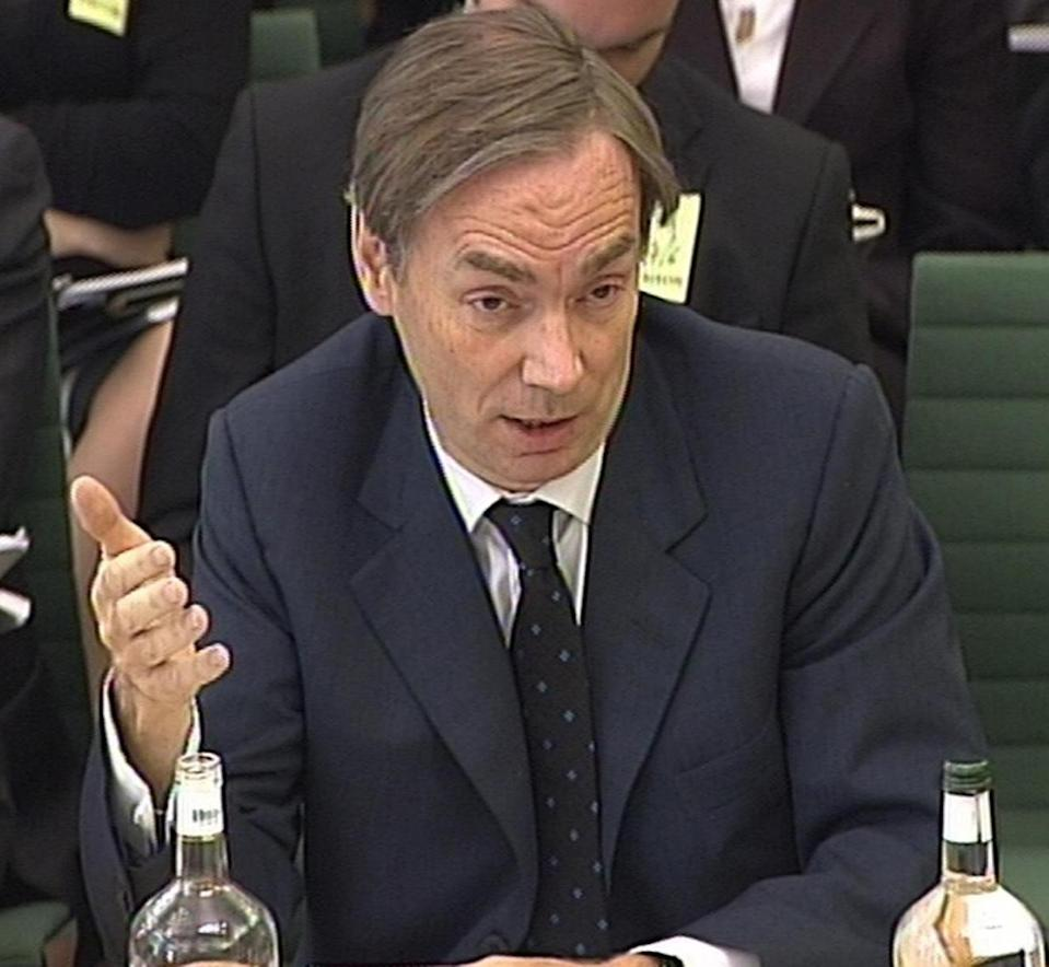 Chief Executive of Centrica, who own British Gas, Sam Laidlaw addresses a committee of MPs at a meeting of the Business and Enterprise Select Committee, which is questioning the companies' bosses as part of an enquiry into energy prices.