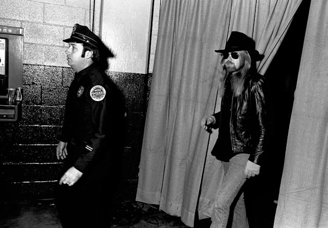 <p>Nashville – January 17: Gregg Allman attends CDB Jam VIII in Nashville, Tenn., Jan. 17, 1981. (Rick Diamond/Getty Images) </p>
