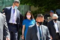 Huawei Technologies Chief Financial Officer Meng leaves court hearing in Vancouver, BC