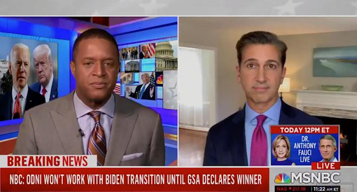 MSNBC cuts off correspondent as he replies s*** and f*** to anchor question about transition (MSNBC)
