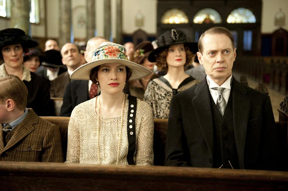 <p><strong>For Margaret:</strong> Channel the Prohibition era with a feminine skirt or dress, pearl accessories, and an eye-catching hat.</p> <p><strong>For Nucky:</strong> Go for the buttoned-up look with a sleek suit and a red carnation on the left lapel. Look stern at all times.</p>