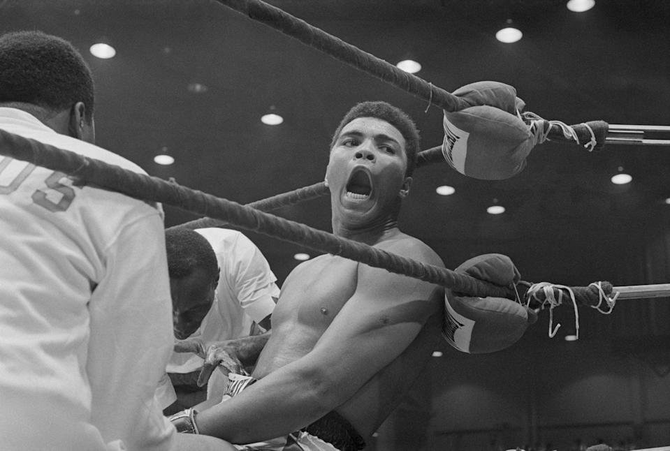 (Original Caption) Closeup of Cassius Clay after defeating Sonny Liston for the Heavyweight Championship of the World.